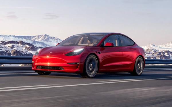 Tesla Model 3 2022 com capacidade de visão