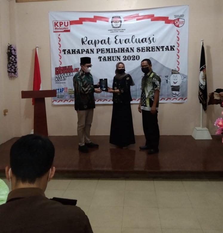 KPU Kabupaten Lingga Melaksanakan Kegiatan Evaluasi Pemilihan Serentak Tahun 2020