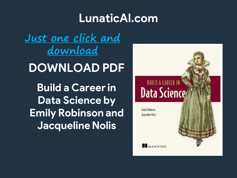build a career in data science pdf free