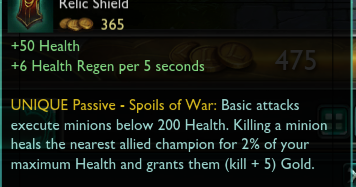 LoL How Relic Shield/Targon's Brace Works - Overpowered
