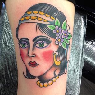 Sweet girl Tattoos design