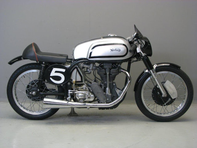 Manx Norton 1950s TT race bike