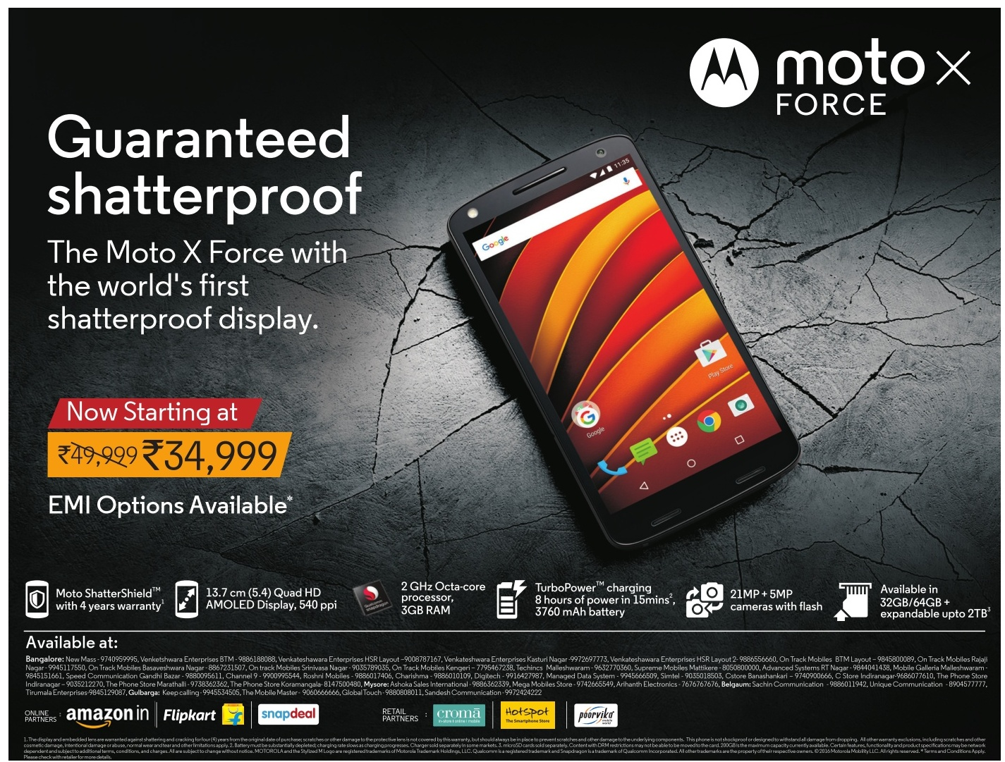 Amazing discount offer on Moto x Force guaranteed shatterproof | April 2016 discount offers