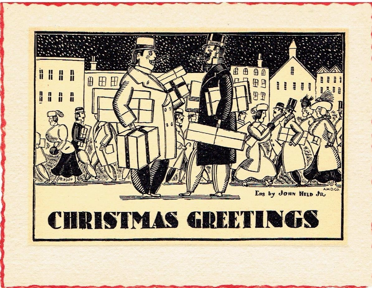 Attempted Bloggery Christmas Greetings From John Held Jr