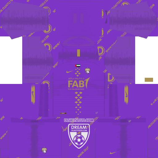 Fc Al Ain kit home 2020-2021 To Dream League Soccer 2019