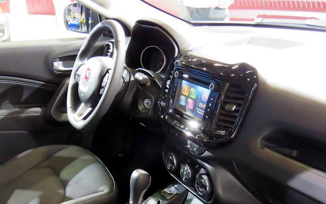 Fiat Toro 2017 2.4 Flex Automática - interior em couro