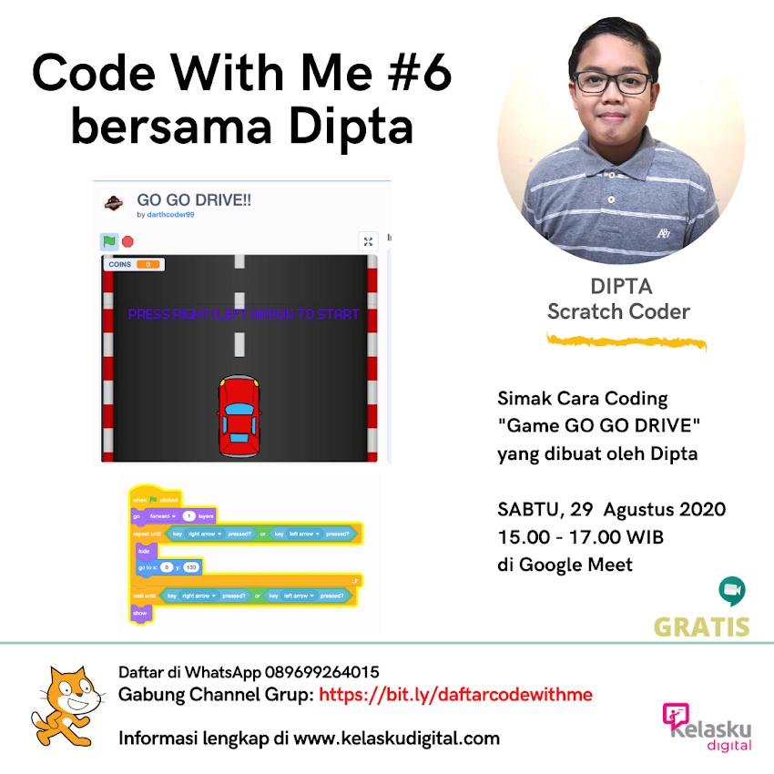 Code With Me #6 Bersama Dipta 29 Agustus 2020