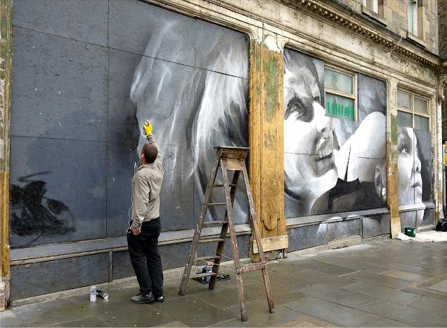 Street Art By Guido Van Helten On The Streets Of Edinburgh, Scotland. 4