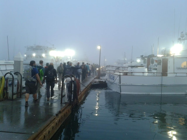 Fog as we loaded up