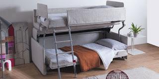 Sofa bed jadi tempat tidur tingkat