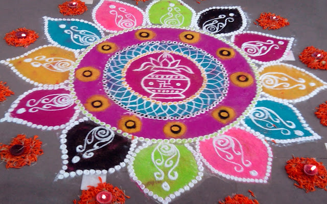 Happy Holi 2016 Rangoli Design Pictures