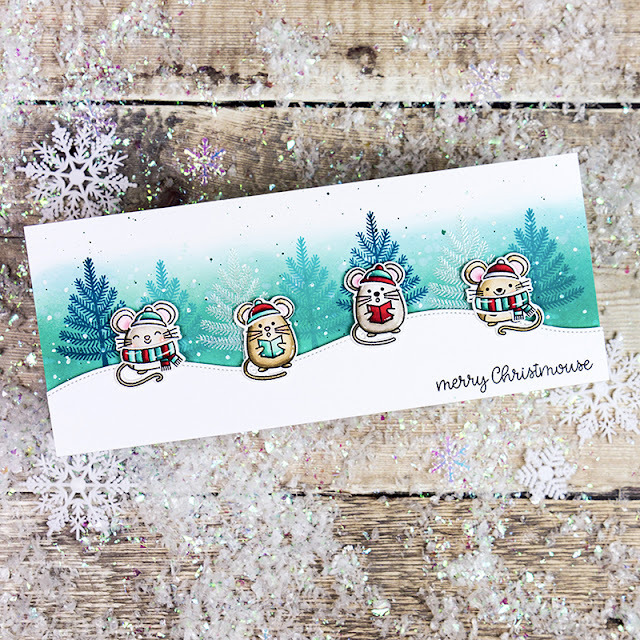 Sunny Studio Stamps: Merry Mice Woodland Borders Santa Claus Lane Christmas Cards by Rachel Alvarado