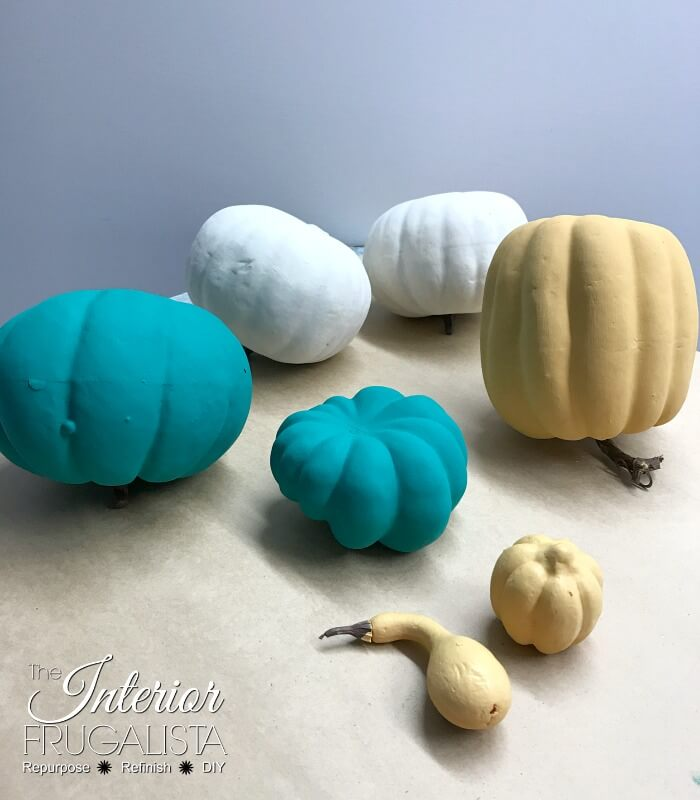 Budget Friendly Painted Pumpkins