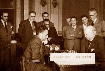 Partida de ajedrez Golmayo-Contreras, 10/5/1948