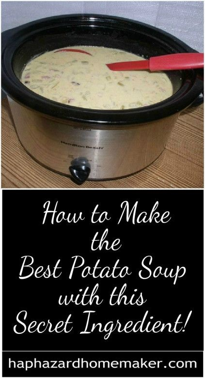 Slow Cooker Best Potato Soup