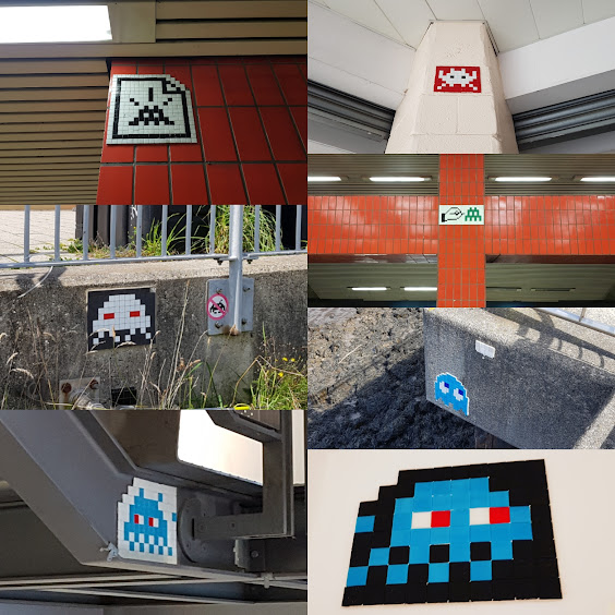 Space Invader street art in Gateshead