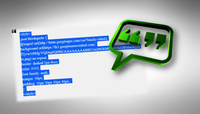 Mouse ile Blogger'da alıntı (blockquote) kısmını tek tıkla seçme kodu