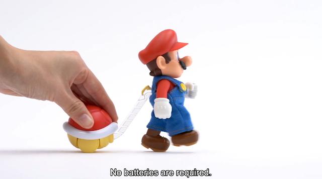 Super Mario World Direct TOKOTOKO Mario windup toy Koopa shell 1-Up Factory gift shop Osaka