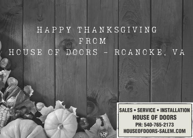 Happy Thanksgiving from House of Doors - Roanoke, VA