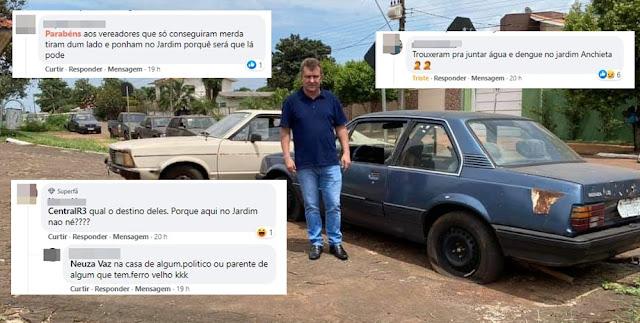 Roncador: Remoção de veículos da Rua Rio de Janeiro gera polêmica