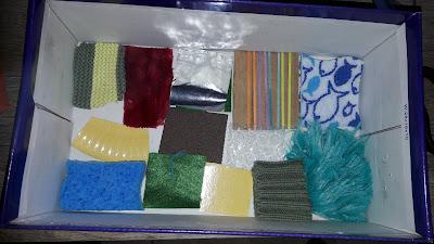 créer fabriquer tutoriel diy boite sensorielle sens toucher boite à chaussure