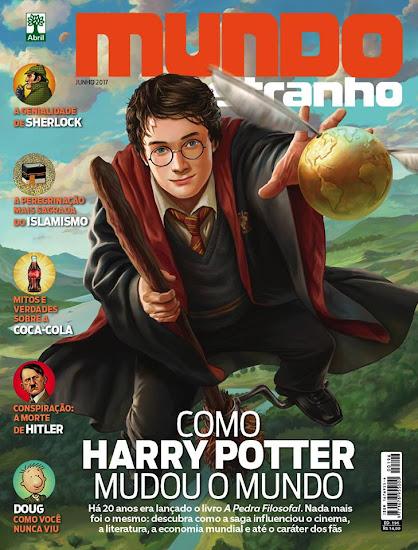 'Como Harry Potter mudou o mundo' é a capa do mês de junho da revista Mundo Estranho | Ordem da Fênix Brasileira