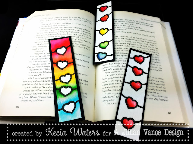 AJVD, Cup of Love, Kecia Waters, Zig Clean Color Brush, watercoloring, bookmarks