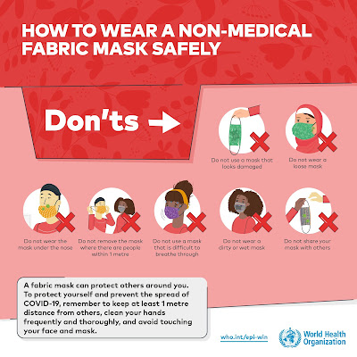 How to wear a non medical mask safely
