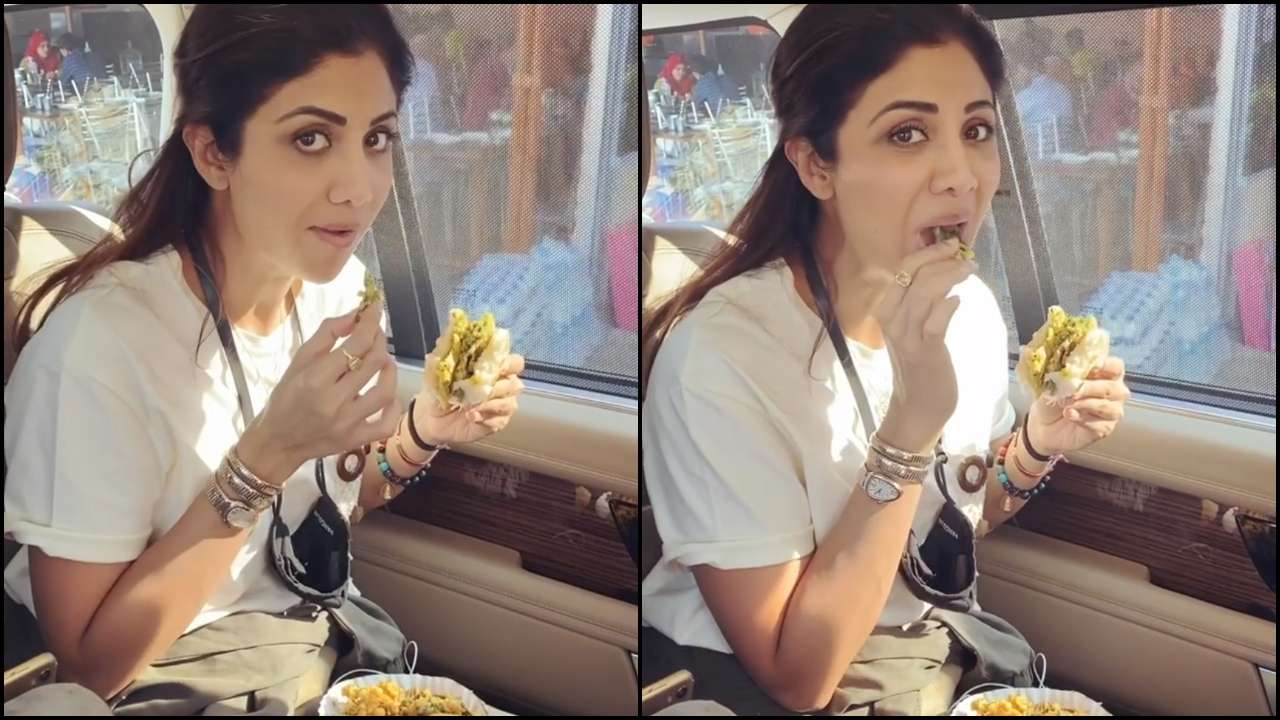 New Watch Video: Shilpa Shetty hogs on vada pav for Sunday binge