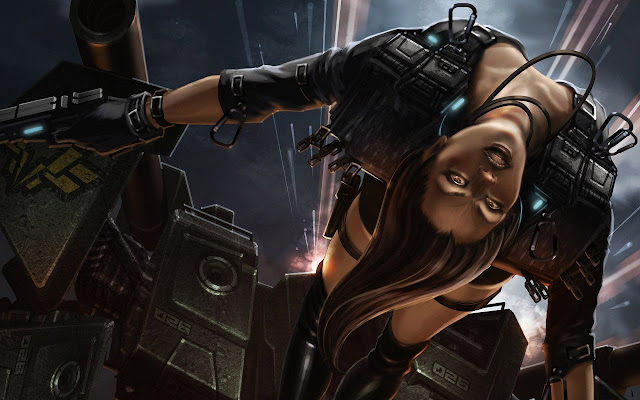 Cyberpunk-Warrior-Wallpaper-4K