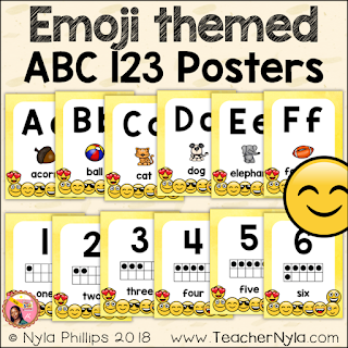 Alphanumeric Posters for the Classroom
