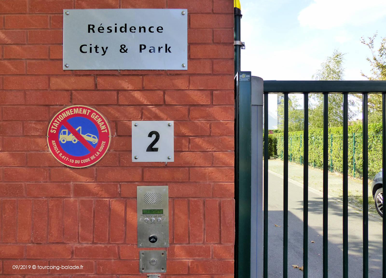 Résidence City & Park, 2 Quai de Cherbourg - Portail