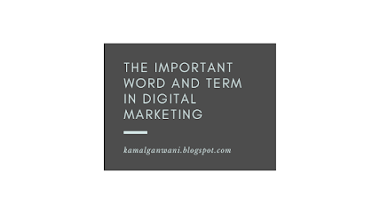 What are some important words used in the world of digital marketing ?