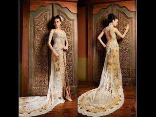 Contoh Model Kebaya Long Tail