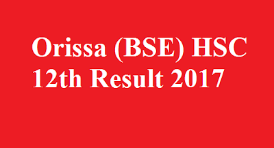 Orissa HSC 12th Result 2017