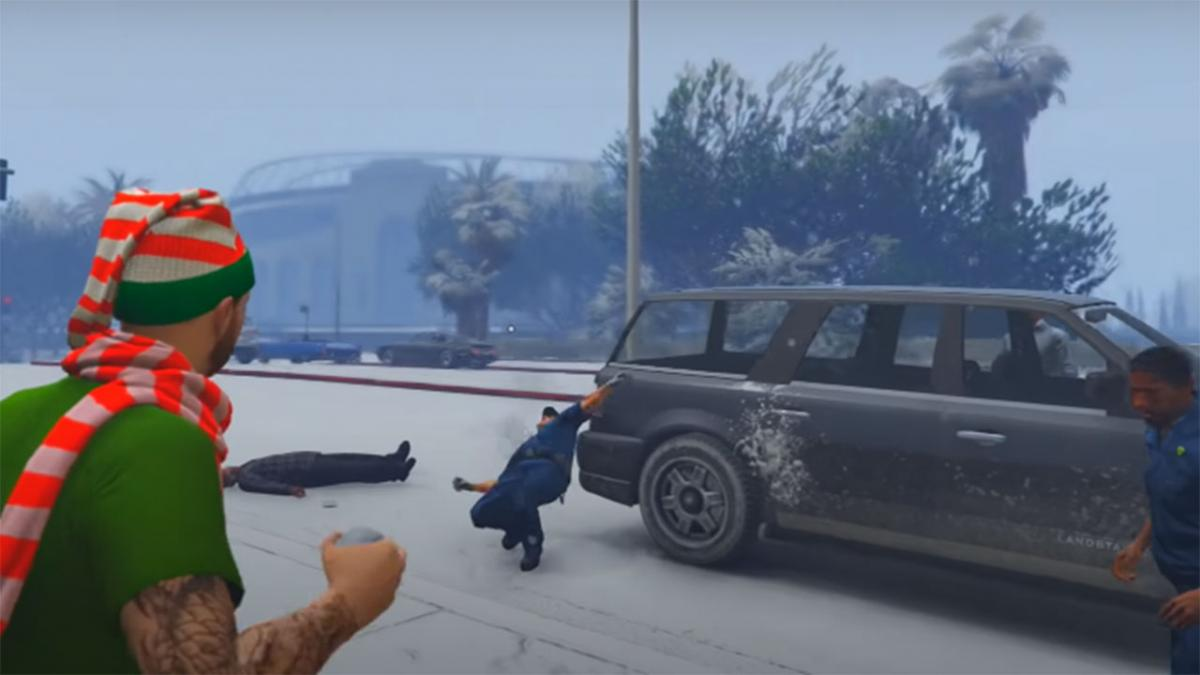 How to catch snowballs in GTA Online during the 2020 Christmas event