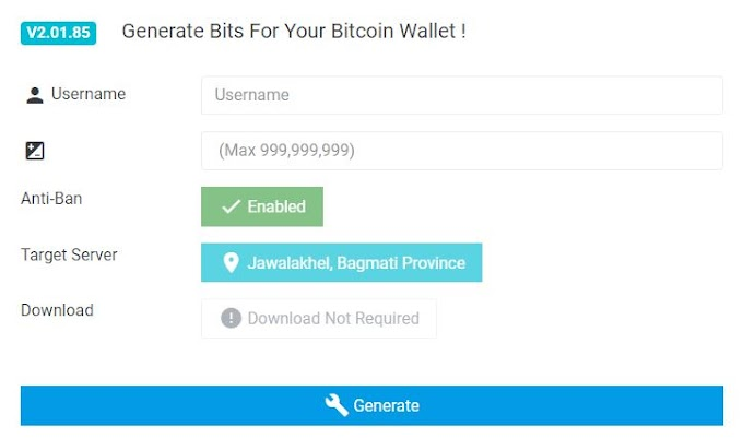 Generate Bits For Your Bitcoin Wallet !