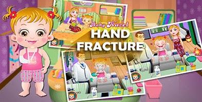 لعبة بيبي هازل في المستشفي لعلاج يدها