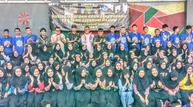 Menuju Generasi Indonesia Emas, Dansektor 9 Dorong Siswa SMK Al Ihsan Jadi Pelopor Lingkungan