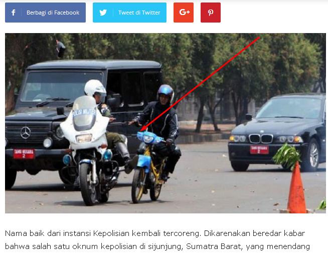 Polisi tendang pengendara Motor Hingga Tewas.