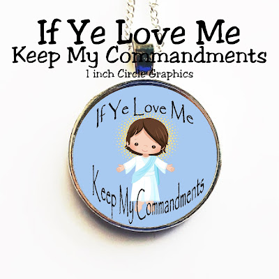 If Ye Love Me Keep My Commandments with this cute Jesus graphic perfect for your kids or the youth in your church. Graphic makes a great printable for a camp gift, young women birthday gift, or tie tac for the men in your life.