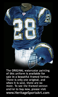 San Diego Chargers 2004 uniform