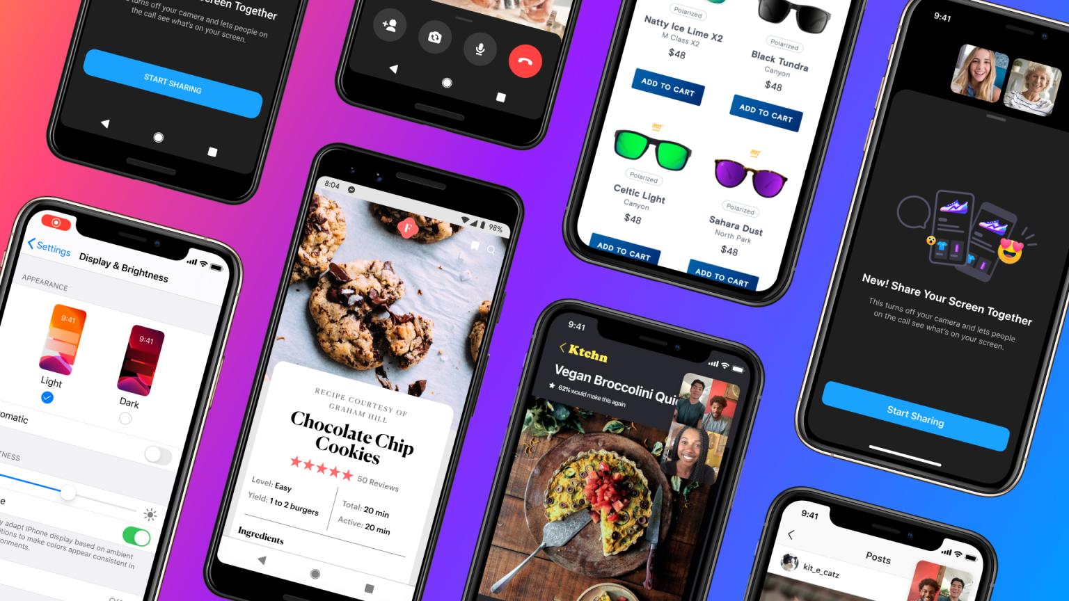 Condivisione schermo Messenger su Android e iOS