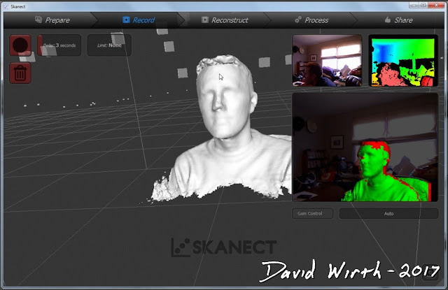 raw 3d model from skanect, 3 cameras, combine