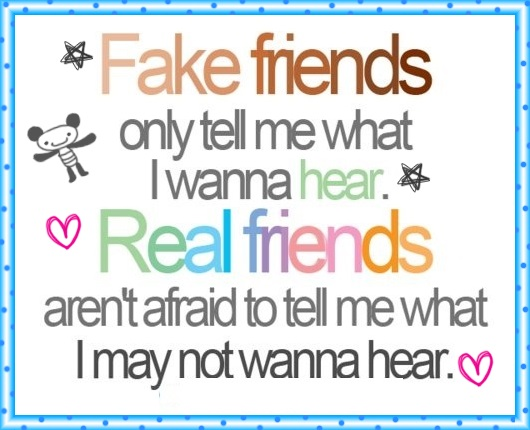 A Note For All My Fake Facebook Friends