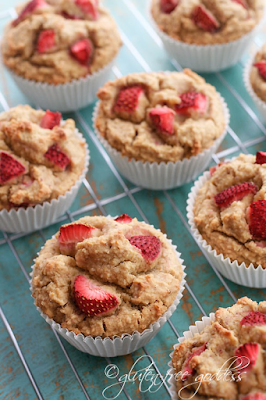 Gluten-Free Whole Grain Strawberry Muffins