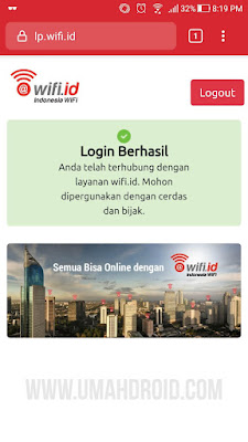 Cara Logout Wifi ID 2019 di HP Android dan Laptop
