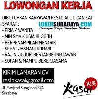 Open Recruitment at Restaurant Kasai Surabaya Desember 2019