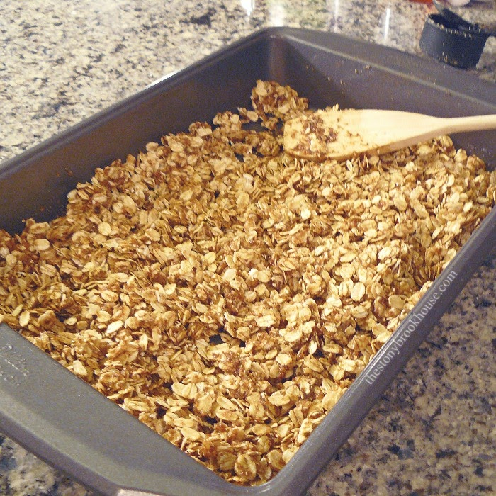 Stirring Granola