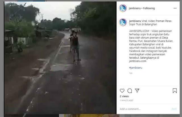 Viral Video Sopir Dipalak Preman, Kapolres Batanghari : Itu Sudah Lama